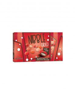 confetti lenti rossi sfumati cioccolato ricoperto da uno strato di zucchero nibble choco Maxtris party