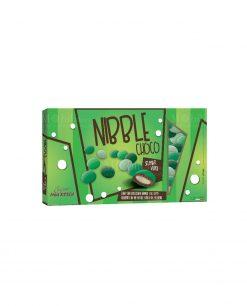 confetti lenti verdi sfumati cioccolato ricoperto da uno strato di zucchero nibble choco Maxtris party
