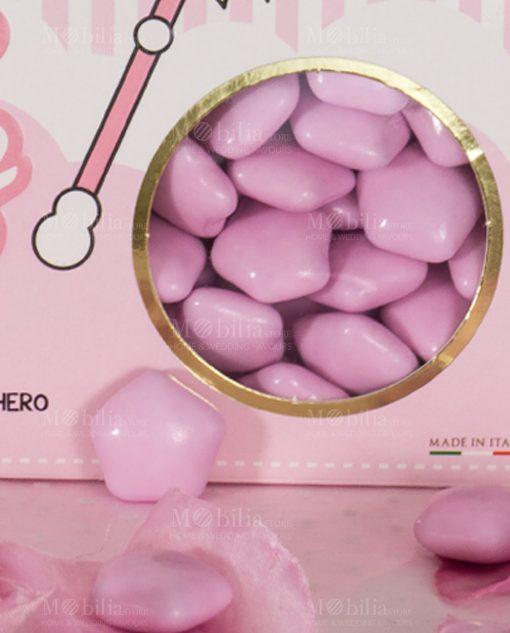 confetti stella rosa choco stars maxtris