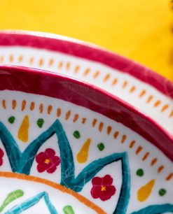 dettaglio piatto stampa floreale linea maya brandani