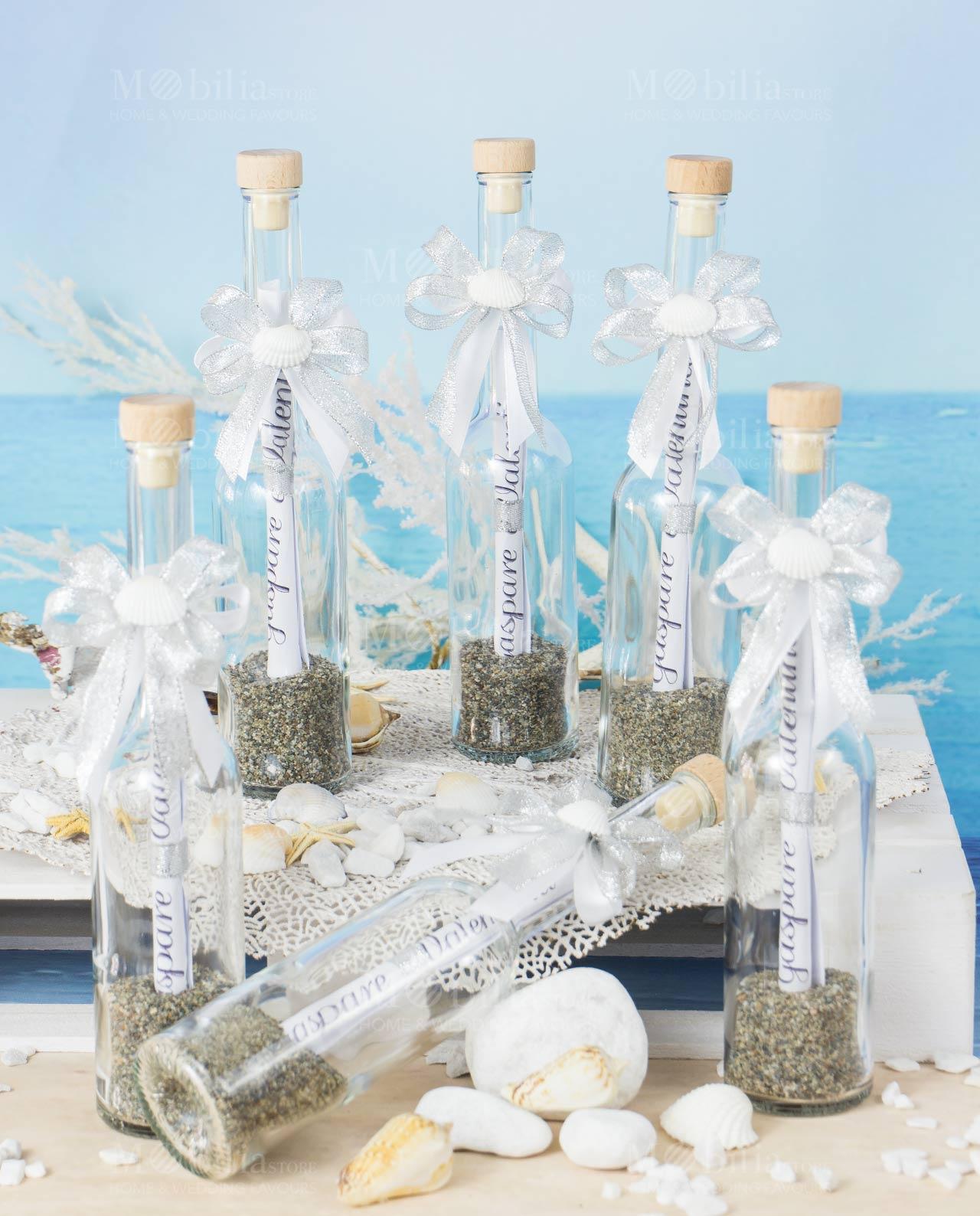 Partecipazioni Matrimonio In Bottiglia Prezzo.Bottiglia Con Invito E Conchiglia Mobilia Store Home Favours