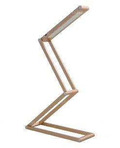 lampada contorsionista champagne alluminio brandani