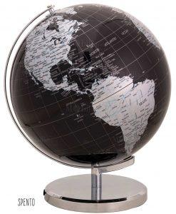 lampada mappamondo nero argento 30x38 spento brandani