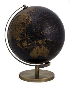 lampada mappamondo nero e oro grande brandani