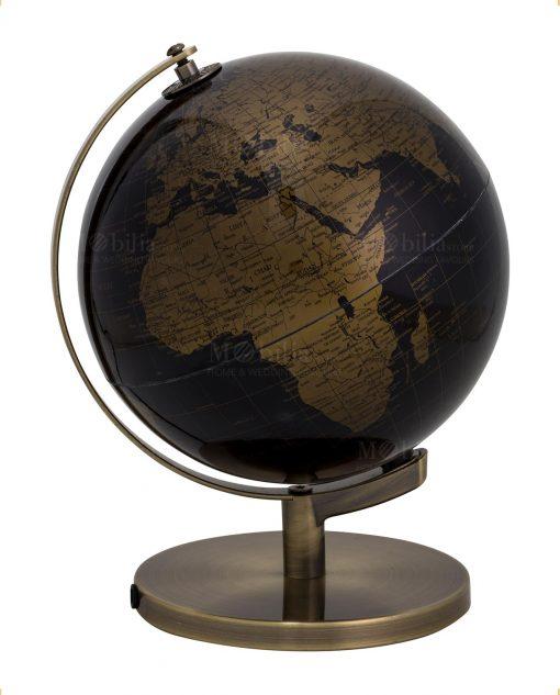 lampada mappamondo nero e oro piccolo brandani