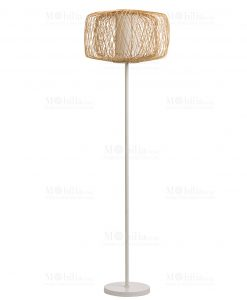 lampada piantana rattan brandani