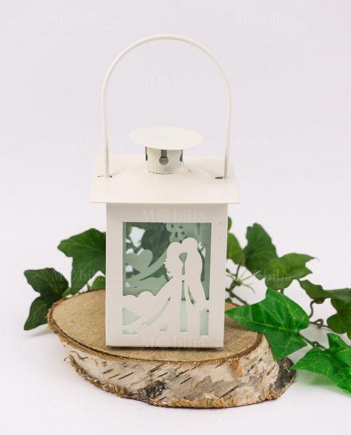lanterna bianca sposi con cuore