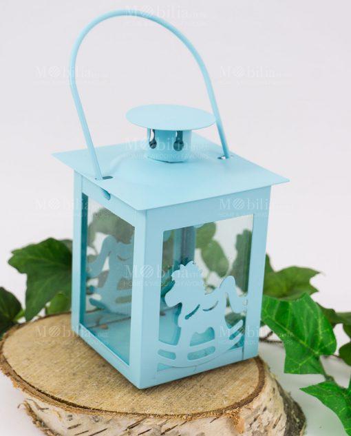 lanterna con cavalluzzio azzurra