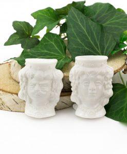magnete ceramica bianca testa di moro coppia