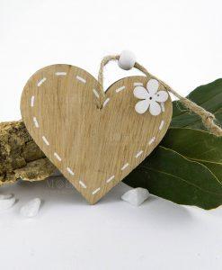 magnete cuore legno