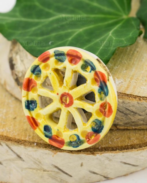 magnete ruota carretto ceramica artigianale caltagirone