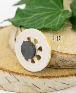 magnete ruota carretto ceramica artigianale caltagirone retro