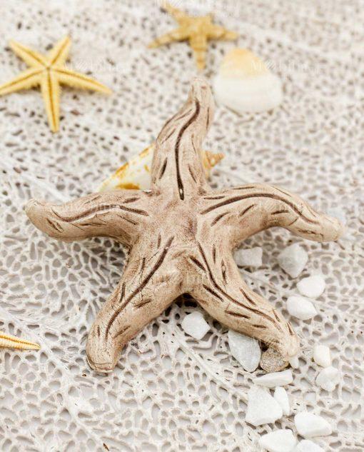 magnete stella marina tortora ceramica caltagirone artigianale