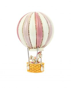 mongolfiera con cavalluccio rosa