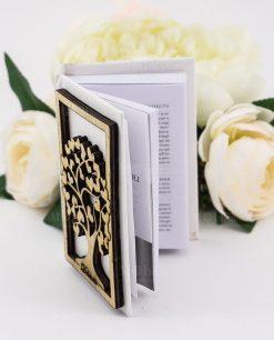 piccolo vangelo bianco tascabile con albero della vita legno con cuori dolcicose