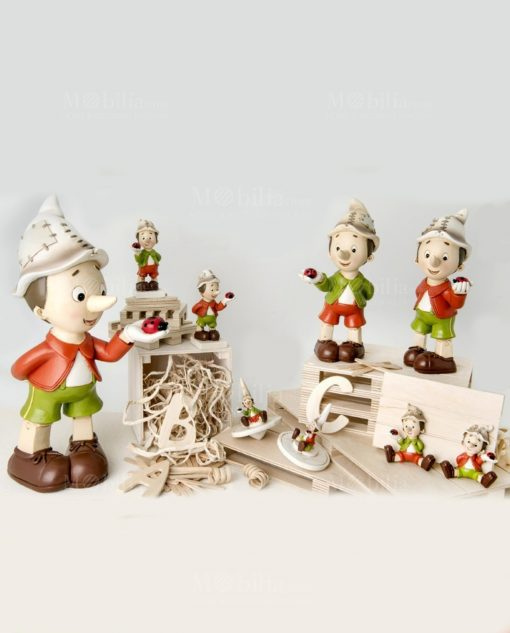 pinocchio varie misure trottola e magnete collezione geppino