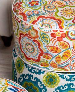 pouf gonfiabile stampa floreale vari modelli brandani