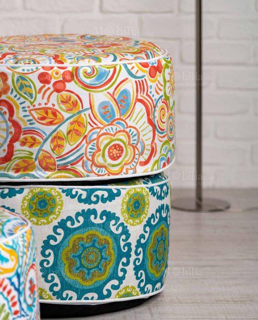 pouf stampa floreale vari modelli brandani
