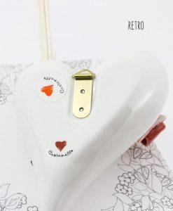 profumatore a forma di cuore bianco con appendino retro cuorematto