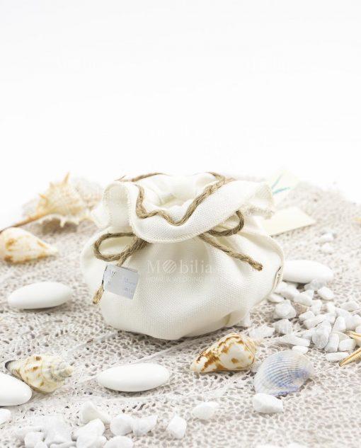 sacchetto bianco con cordoncino linea oceano ad emozioni