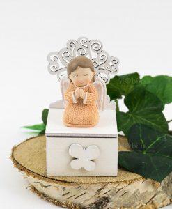 scatolina portaconfetti angioletto bimba con albero della vita