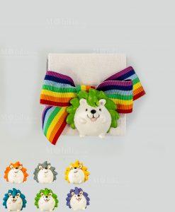scatolina portaconfetti nastro arcobaleno con magnete calamita poldino assortiti 6 colori cuorematto