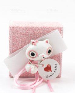 scatolina portaconfetti rosa poldina cuorematto