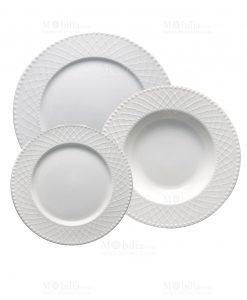 servizio piatti bianchi porcellana linea burlesque brandani