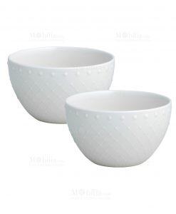 set 2 pezzi ciotola cereali porcellana linea burlesque brandani