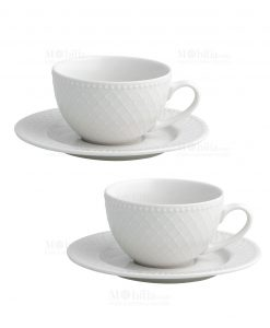 set 2 pezzi tazza the porcellana linea burlesque brandani