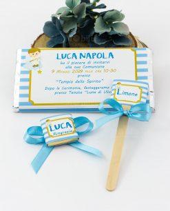set invito barretta di cioccolato cioccolattino segnaposto e segnagusto