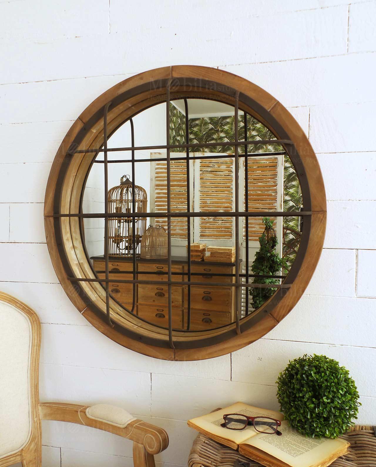 Specchiera rotonda con grata mobilia store home favours for Mobilia recensioni