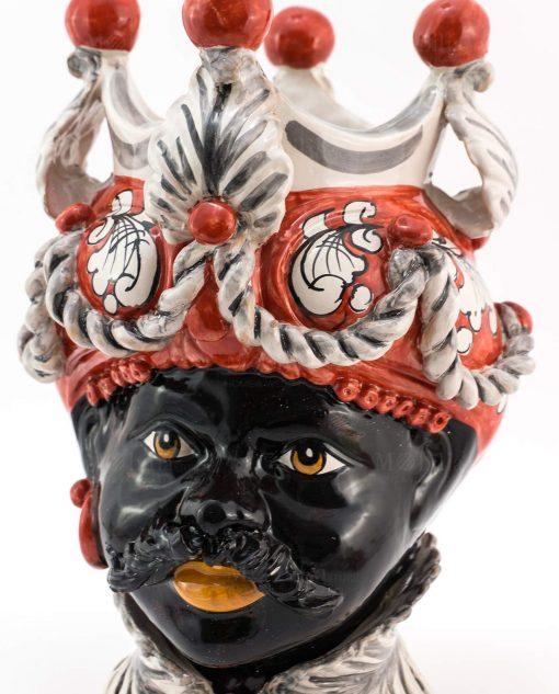 testa di moro uomo ceramica artigianale caltagirone sicilia