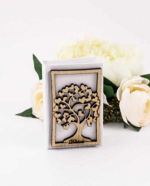 vangelo bianco con albero della vita legno con cuori dolcicose