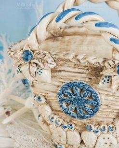 vaso coffa ceramica caltagirone