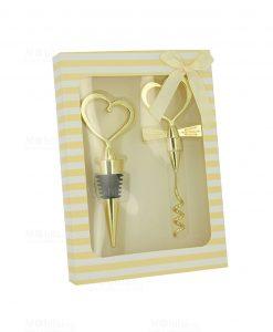 apribottiglia e cavatappi con cuore con scatola collezione orus