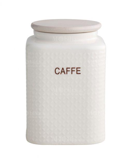 barattolo caffe porcellana 1 kg con tappo bamboo brandani