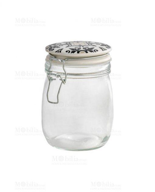 barattolo vetro con tappo ermetico medio linea alhambra brandani