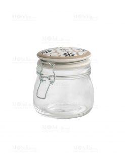 barattolo vetro con tappo ermetico piccolo linea alhambra brandani