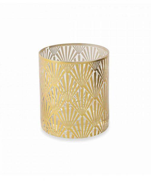 bicchiere acqua vetro stampa oro collezione opera villa deste