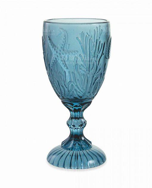 bicchiere calice blu tema mare collezione pantelleria villa deste