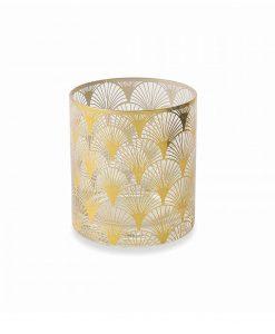 bicchiere vetro acqua stampa ventaglio oro collezione opera villa deste
