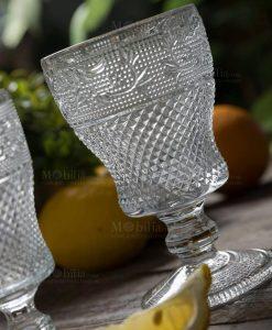 bicchiere vetro calice alto collezione prisma villa deste