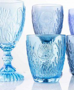 bicchieri soggetti marini a rilievo collezione pantelleria villa deste