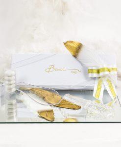 bomboniera confezione lusso pala torta trasparente baci milano
