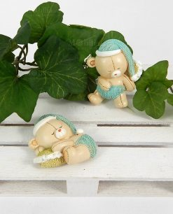 calamita orsetto con cappellino azzurro due modelli