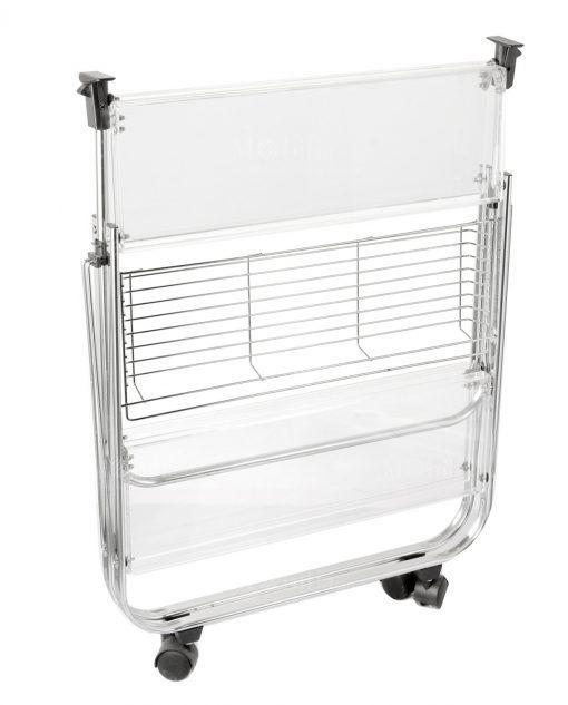 carrello pieghevole trasparente brandani