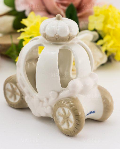 carrozza led porcellana bianca