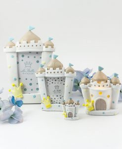 castello portafoto grande e piccolo magnete e lampada bimbo