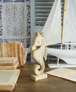 cavalluccio marino legno decorativo orchidea milano